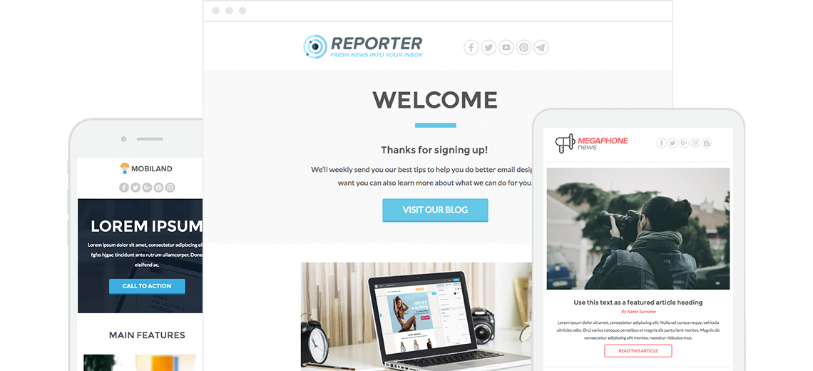 Responsive Designed Email Templates Newsletter