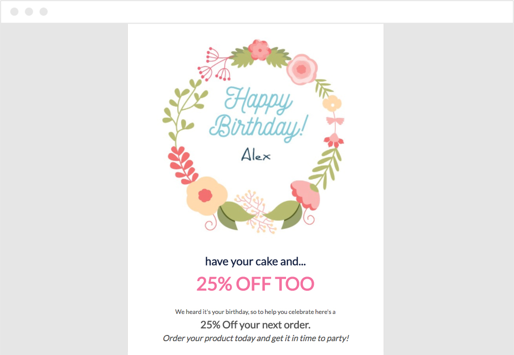 Happy Birthday Automated Triggered Email