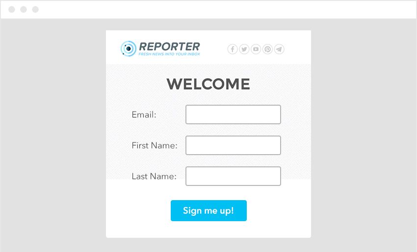 Sign Up Form Lead Capture