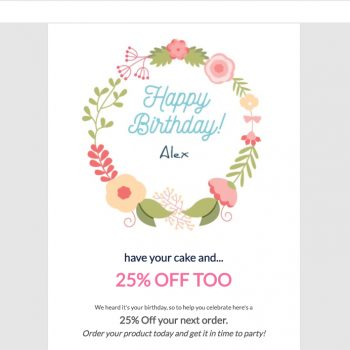 Critical Impact Software Happy Birthday Email Ecard